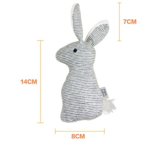 2019 New Baby Rattle Toys Animal Cute Rabbit Hand Bells Plush Baby Toy With BB Sound 3