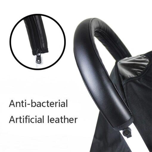 2019 baby stroller pu leather handle stroller arm case protective cover babyyoya yoya pram accessories 2