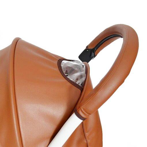 2019 baby stroller pu leather handle stroller arm case protective cover babyyoya yoya pram accessories 4