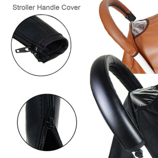 2019 baby stroller pu leather handle stroller arm case protective cover babyyoya yoya pram accessories