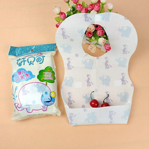 2020 10PCs Toddlers Drooling Bibs Disposable Waterproof Babys Saliva Towel Drool Bib Suitable for Drooling and 1