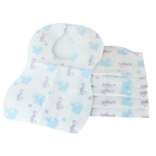 2020 10PCs Toddlers Drooling Bibs Disposable Waterproof Babys Saliva Towel Drool Bib Suitable for Drooling and 3