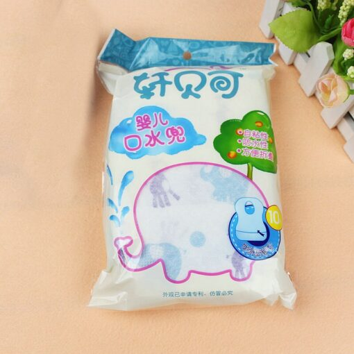 2020 10PCs Toddlers Drooling Bibs Disposable Waterproof Babys Saliva Towel Drool Bib Suitable for Drooling and 4