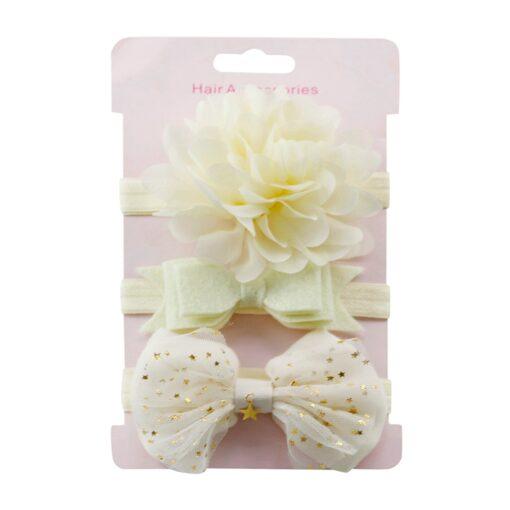2020 3 pcs Children Floral Headband Girls Baby Accessories Elastic Loop Headband Set New Arrival Dropshipping 4