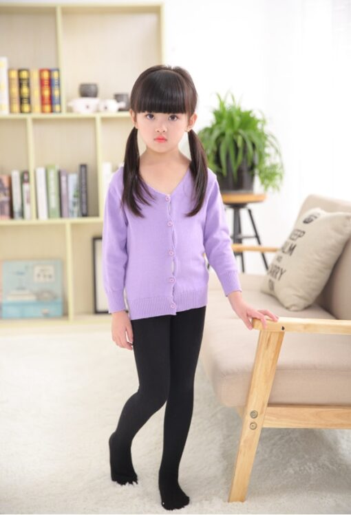 2020 Autumn Winter Cotton Girl Tights Solid Color Knitted Tights Kids Children Pantyhose Baby Stockings 2 1