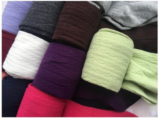 2020 Autumn Winter Cotton Girl Tights Solid Color Knitted Tights Kids Children Pantyhose Baby Stockings 2 2
