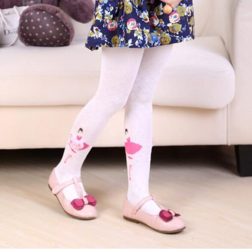 2020 Autumn Winter Cotton Girl Tights Solid Color Knitted Tights Kids Children Pantyhose Baby Stockings 2 3