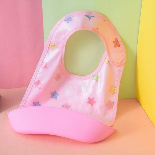 2020 Baby Bibs Detachable Kids Boys Girls Cartoon Waterproof Feeding Apron Saliva Towel Bib Smock baby 1