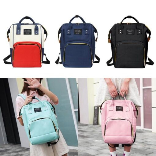 2020 Baby Diaper Bag With Free Hooks Large Capacity Waterproof Nappy Bag Kits Mummy Maternity Travel 3