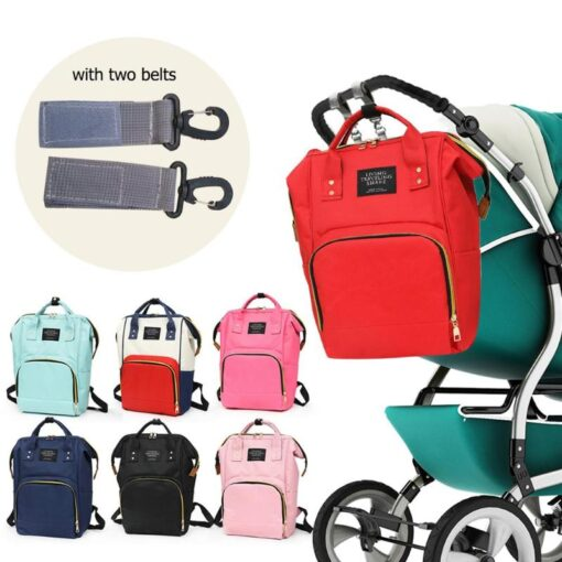 2020 Baby Diaper Bag With Free Hooks Large Capacity Waterproof Nappy Bag Kits Mummy Maternity Travel