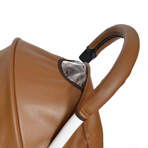 2020 Baby Pram Handle PU Leather Pushchair Stroller Armrest Case Protective Cover For babyyoya yoya Pram 1