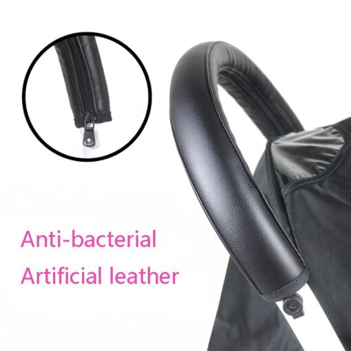 2020 Baby Pram Handle PU Leather Pushchair Stroller Armrest Case Protective Cover For babyyoya yoya Pram