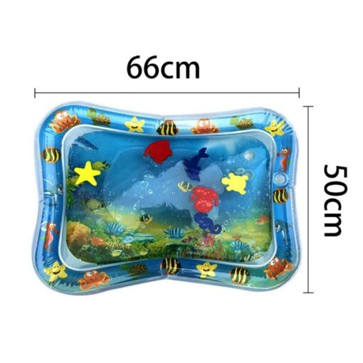 2020 Baby Toys Infant Cartoon Pattern Water Play Mat Fun Activity Play Center PVC Water Filled 4