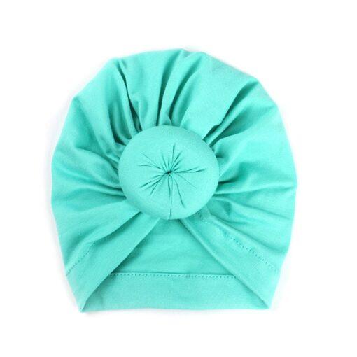 2020 Baby cotton blends Headband Soft Rabbit Bowknot Turban Hair Bands for Children Girls Elastic Headwrap 4
