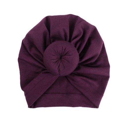 2020 Baby cotton blends Headband Soft Rabbit Bowknot Turban Hair Bands for Children Girls Elastic Headwrap 5