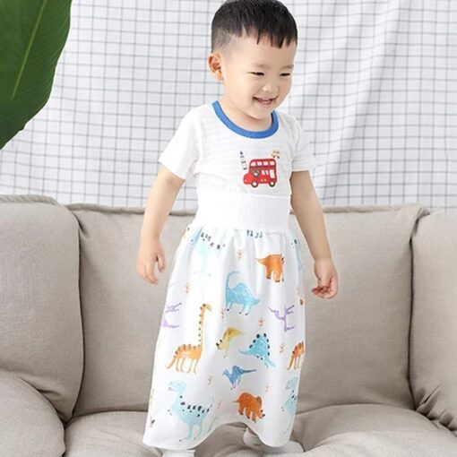 2020 Comfy Childrens Diaper Skirt Shorts 2 in 1 Waterproof and Absorbent Shorts for Baby Toddler 2