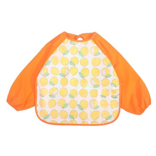2020 Cute Baby Waterproof Long Sleeve Apron Children Feeding Smock Bib Burp Clothes Soft Eat Toddler 1