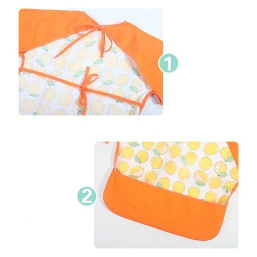 2020 Cute Baby Waterproof Long Sleeve Apron Children Feeding Smock Bib Burp Clothes Soft Eat Toddler 4