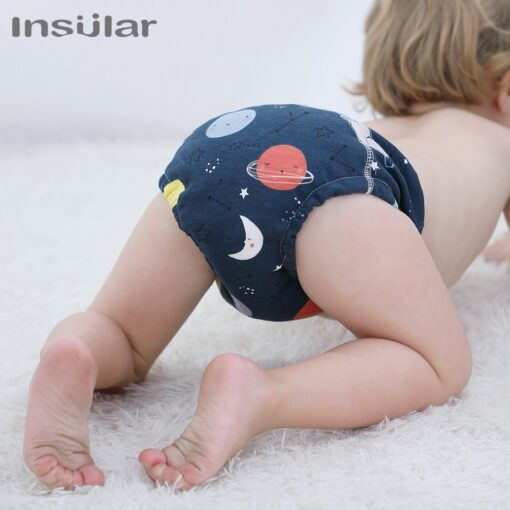 2020 Double Gussets Baby Nappy All in two Ai2 Bamboo Charcoal Cloth Diaper Reusable Eco friendly