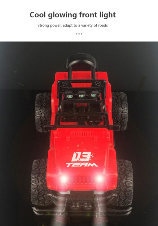2020 Hot Four way Remote Control Wrangler 1 20 With Light Remote Control Off road Vehicle 3