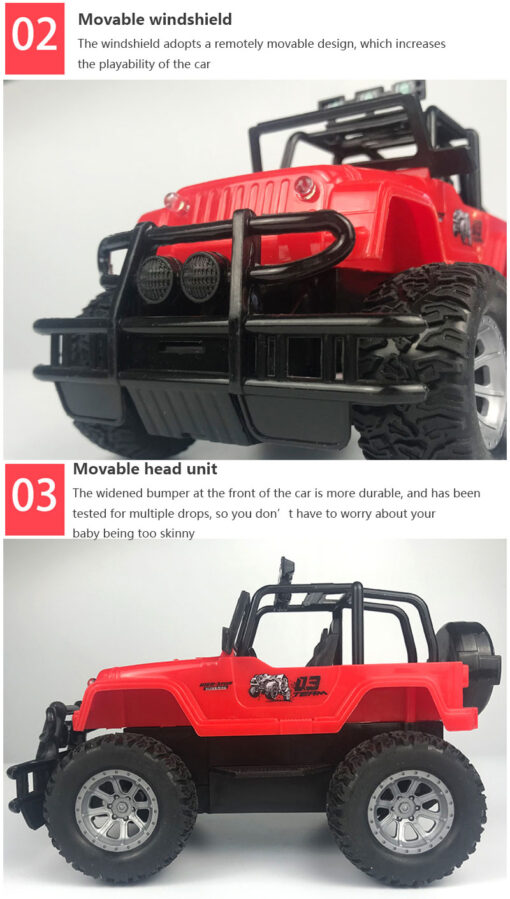 2020 Hot Four way Remote Control Wrangler 1 20 With Light Remote Control Off road Vehicle 5