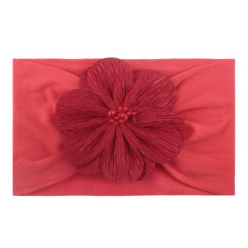 2020 Kid Headwear Barrette Accessories Nylon Fabric Flower Flora Headband Cute Princess Fashionable Bands Kids Headband 1