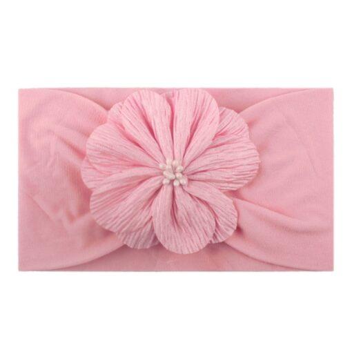 2020 Kid Headwear Barrette Accessories Nylon Fabric Flower Flora Headband Cute Princess Fashionable Bands Kids Headband 3