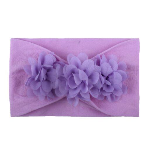 2020 Kids Headband Hair Kid Barrette Accessories Nylon Fabric Flower Flora Headband Cute Princess Super Soft 3