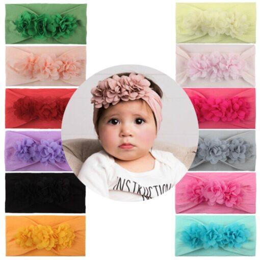 2020 Kids Headband Hair Kid Barrette Accessories Nylon Fabric Flower Flora Headband Cute Princess Super Soft 5