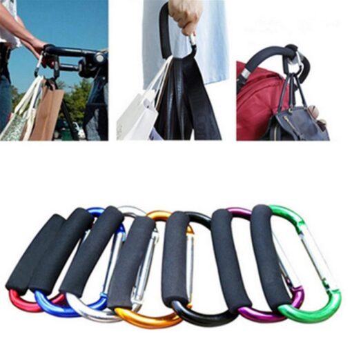 2020 Multi function Aluminium Baby Pushchair Stroller Buggy Baby Hanger Trolley Carabiner Bag Stroller Hook Pram