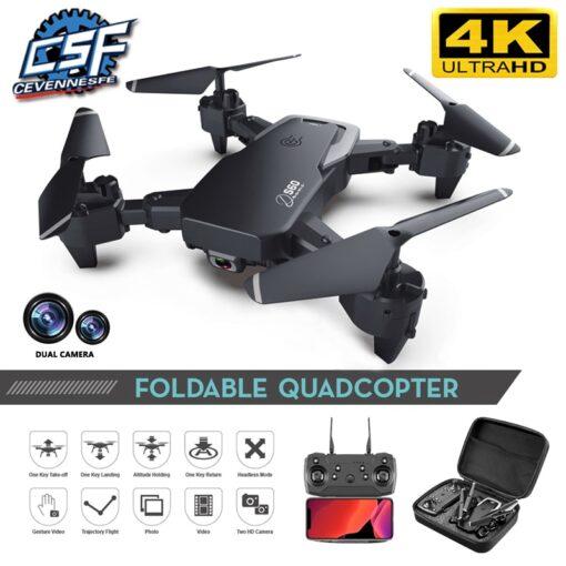 2020 NEW Drone 4k HD Wide Angle Camera 1080P WiFi fpv Drone Dual Camera Quadcopter Height