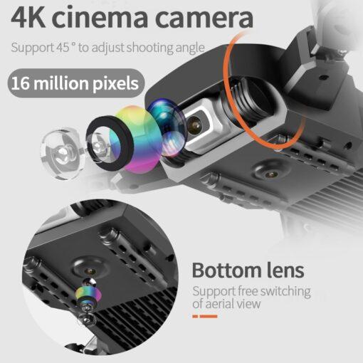 2020 NEW Drone 4k HD Wide Angle Camera 1080P WiFi fpv Drone Dual Camera Quadcopter Height 9