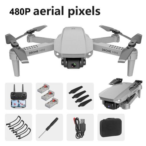 2020 NEW Drone Mini E88 480P HD Camera WIFI FPV Foldable Altitude Hold Drone RC Quadcopter 2