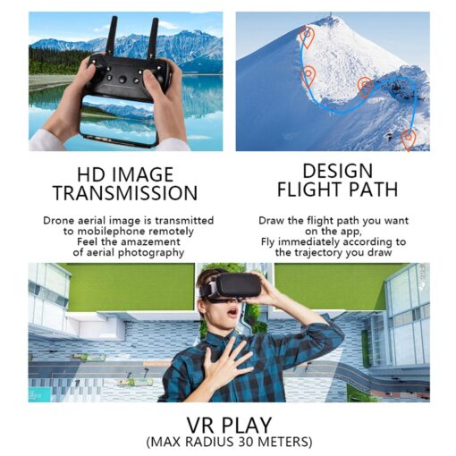 2020 NEW E99 Drone 4K HD FPV Wide Angle Profession Dual Camera Hight Hold Optical Flow 4