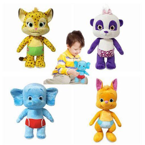 2020 New Arrival 25cm Word Party Plush Toys Panda Elephant Leopard kangaroo Stuffed Animals Dolls For