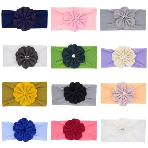 2020 New Baby Nylon Headband Rabbit Bowknot Turban Hair Bands for Children Girls Elastic Headband Soft 1