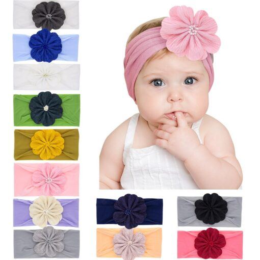 2020 New Baby Nylon Headband Rabbit Bowknot Turban Hair Bands for Children Girls Elastic Headband Soft