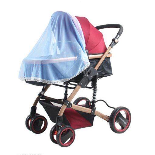 2020 New Baby Stroller Pushchair Mosquito Insect Shield Net Safe Infants Protection Mesh Stroller Accessories Cart 1
