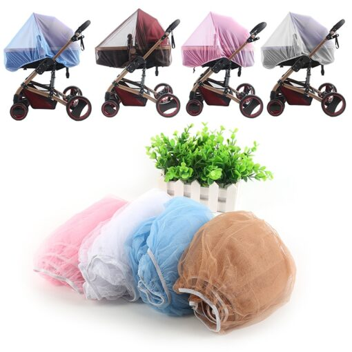 2020 New Baby Stroller Pushchair Mosquito Insect Shield Net Safe Infants Protection Mesh Stroller Accessories Cart 4