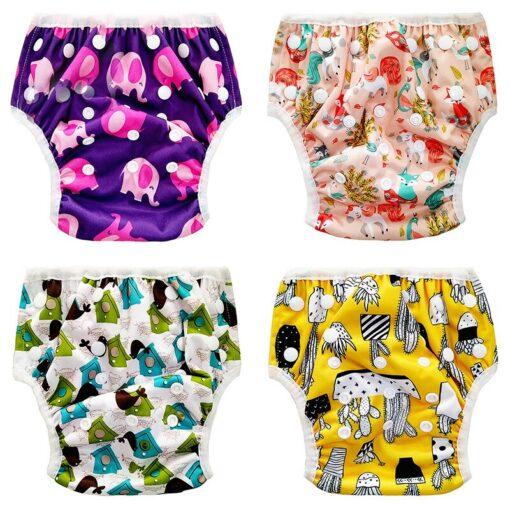 2020 New Baby Swim Diaper Waterproof Adjustable Cloth Diapers Pool Pant Swimming Diaper Reusable Washable Baby