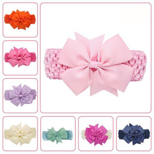 2020 New Bowknot big headband baby bow headbands hair band for girls boy girl turban head