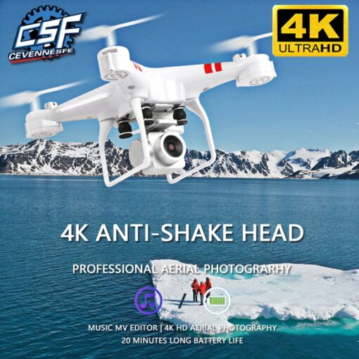 2020 New Drone 4k camera HD Wifi transmission fpv drone air pressure fixed height four