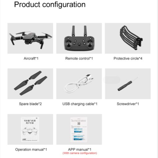 2020 New E88 Pro 4k drone gps drones with camera hd 4k rc airplane dual camera 5
