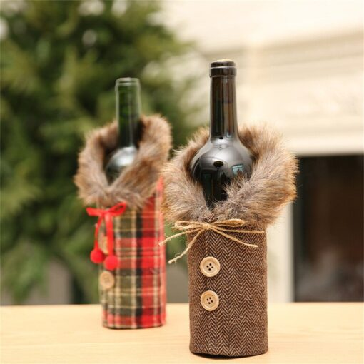 2020 New Fashion new arrival Merry Christmas Santa Wine Bottle Bag Cover Xmas Festival Party Table 4