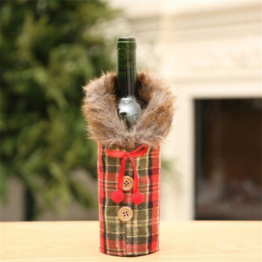 2020 New Fashion new arrival Merry Christmas Santa Wine Bottle Bag Cover Xmas Festival Party Table 5