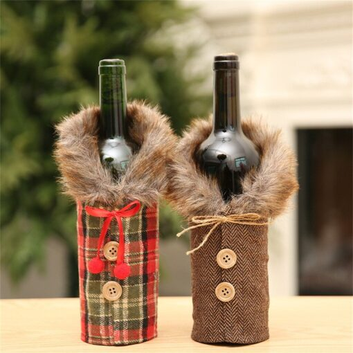 2020 New Fashion new arrival Merry Christmas Santa Wine Bottle Bag Cover Xmas Festival Party Table