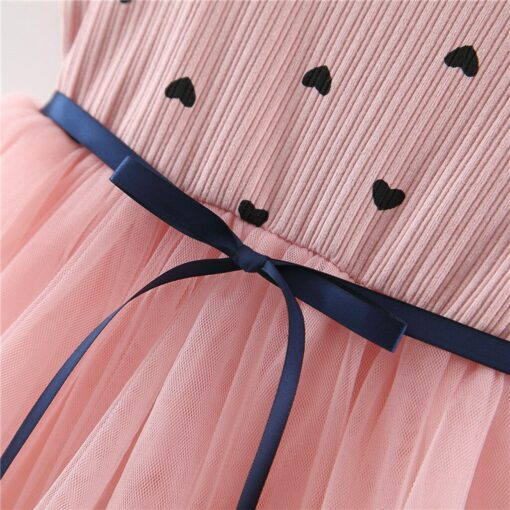 2020 New Fashion new arrival Toddler Baby Girls Ruched Patchwork Dot Tulle Skirt Party Princess Dress 4