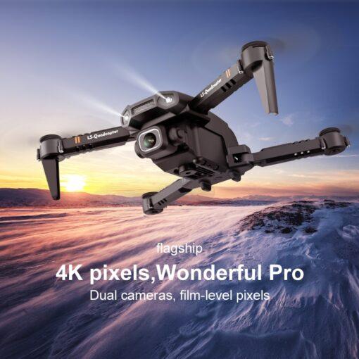 2020 New Mini Drone XT6 4K 1080P HD Camera WiFi Fpv Air Pressure Altitude Hold Foldable 3