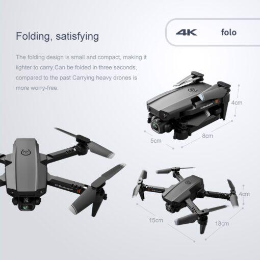 2020 New Mini Drone XT6 4K 1080P HD Camera WiFi Fpv Air Pressure Altitude Hold Foldable 4