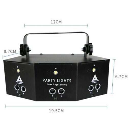 2020 New Remote 9 EYE RGB DMX Scan Projector Laser LED Strobe DJ Party Stage Lighting 1
